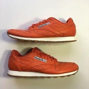 Reebook Classic Leather Orange Men's Sneakers